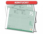 Kentucky State Authorized Rx Pads,1 Part, 100 per pad, 12 pad min