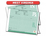 West Virginia State Authorized Rx Pads,1 Part, 100 per pad, 12 pad min