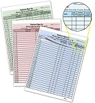 Patient Sign-in Forms 125/pk - minimum order is 2 packs